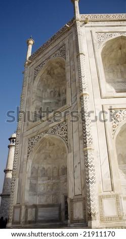 side view of taj mahal - stock photo