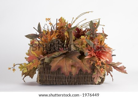 Side view of the Autumn basket