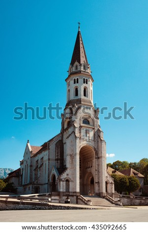 side view of the basilica of the Visitation at Annecy, Haute Savoie, France