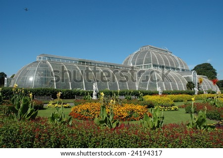 Side view of the palm house at Kew Gardens