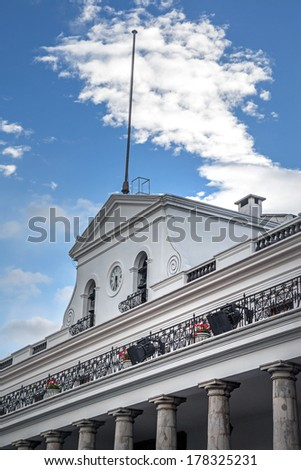 Side view of the President's Palace, Quito Ecuador - stock photo