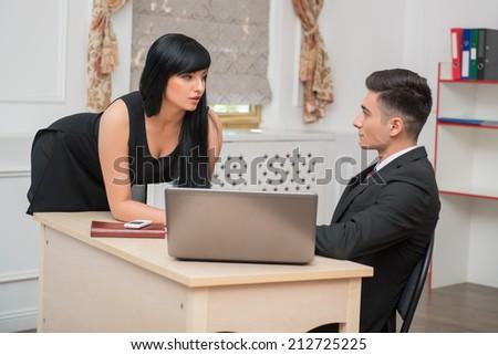 Mature Secretary Flirting 82