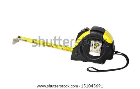 side view tape measure isolate on white backgrounds
