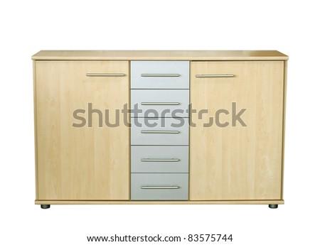 sideboard isolated on white background - stock photo