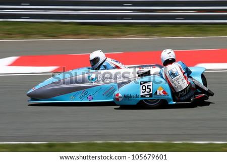 Sidecar race - stock photo