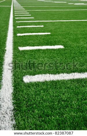 High School Football Field Hash Marks