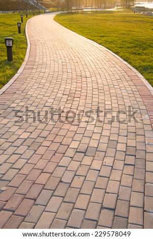 Sidewalk - stock photo