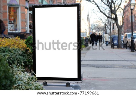 Sidewalk Advertising - stock photo