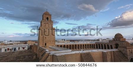 Sidi Oqba, the Great Mosque of Kairouan, Tunisia, Africa - stock photo