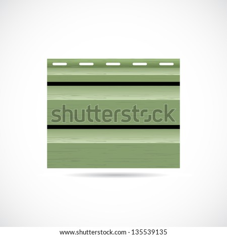 Siding texture sample small icon green color - stock photo