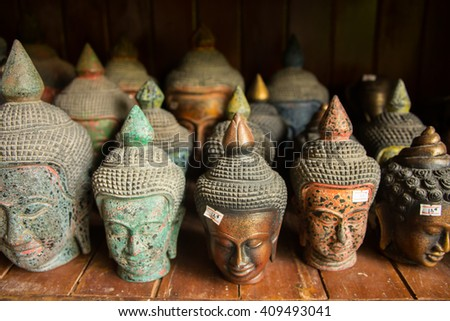 Siem reap, Cambodia - Apr 14, 2016 - Cambodia souvenirs are sold near the Ankor temple