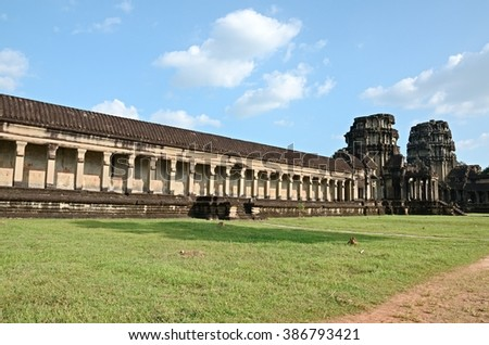 Siem reap, Cambodia. - DEC 21:2012. Angkor Wat Temple ancient kingdom in Southeast Asia .