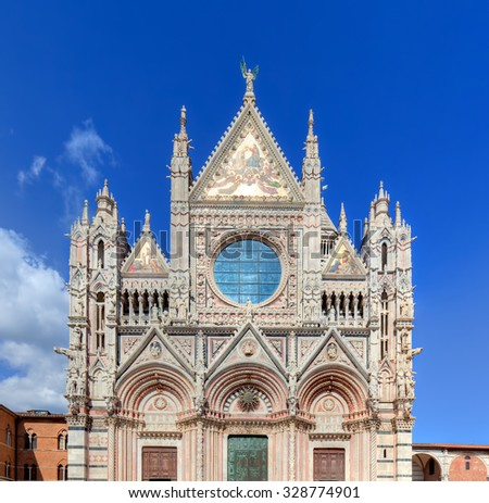 Siena Cathedral, Duomo di Siena in Siena, Italy, Tuscany region. Historic medieval church