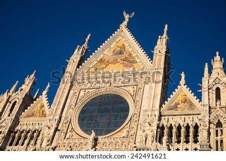 Siena Cathedral Front - Siena, Tuscany, Italy - stock photo
