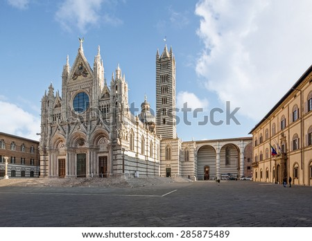 Siena Cathedral is a medieval church in Siena, Italy, dedicated to Santa Maria Assunta.