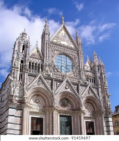 Siena cathedral on sunny day