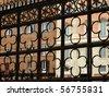 Siena - decorative grating on Piazza  del  Campo - stock photo