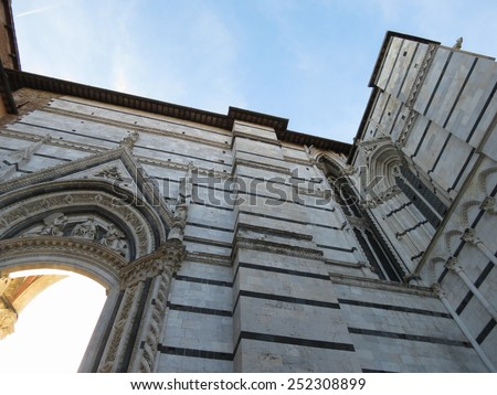 Siena, Italian medieval town - Cathedral - stock photo