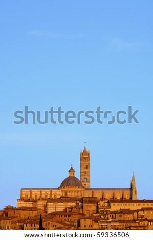 Siena night - stock photo