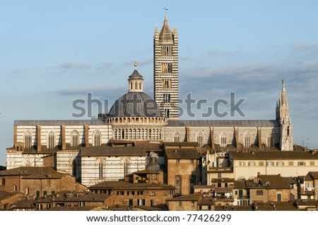 Siena's cathedral - stock photo