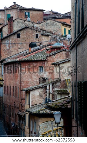 Sienna - medieval town of Tuscany - stock photo