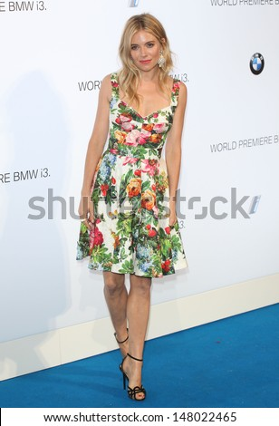 Sienna Miller arriving for the BMW i3 Launch Party, at Old Billingsgate, London. 29/07/2013 - stock photo