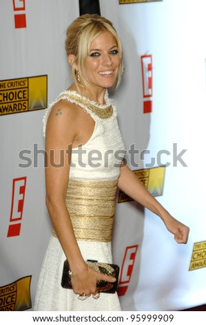 SIENNA MILLER at the 12th Annual Critics' Choice Awards at the Santa Monica Civic Auditorium. January 12, 2007  Los Angeles, CA Picture: Paul Smith / Featureflash - stock photo