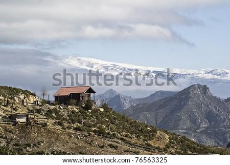 Sierra Nevada in Granada, Spain - stock photo