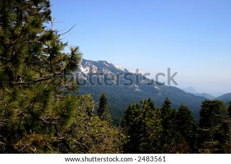Sierra Nevada Mountains - View - stock photo