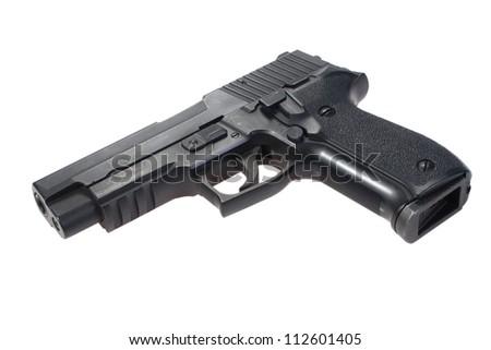 sig sauer hand gun - stock photo