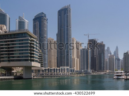 sight of district Marina in Dubai