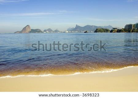 Sight of Rio De Janeiro, from Niteroi - stock photo