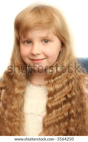 Sight of the nice girl with long hair