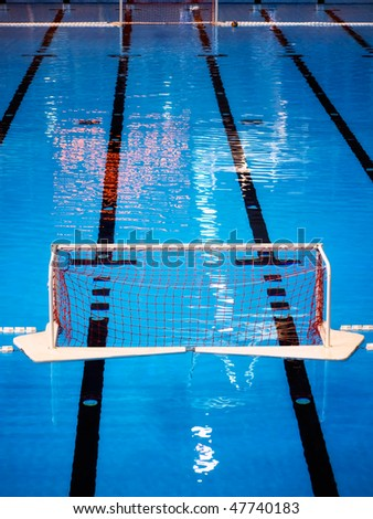 Sight on the water polo pool. - stock photo