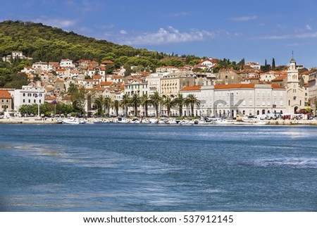 Sights of Croatia. Beautiful city Split. Croatian paradise.