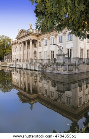 Sights of Warsaw. Palace Lazienki  in capital of Poland-Warsaw.