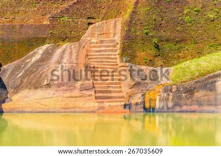 Sigiriya, Lion Rock Fortress, Sri Lanka  - stock photo