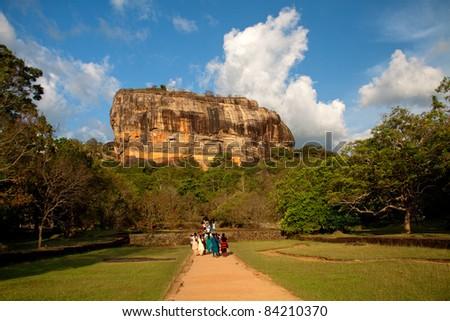 Sigiriya mountain in Sri Lanka. Lion Rock - stock photo