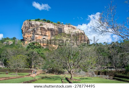 Sigiriya Rock Fortress 5th Centurys Ruined Castle That Is Unesco Listed As A World Heritage Site In Sri Lanka - stock photo
