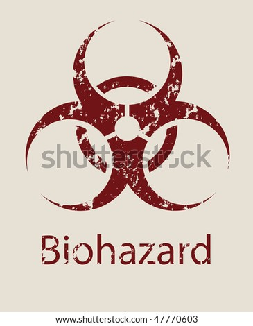 Sign a symbol of biological danger Biohazard - stock photo