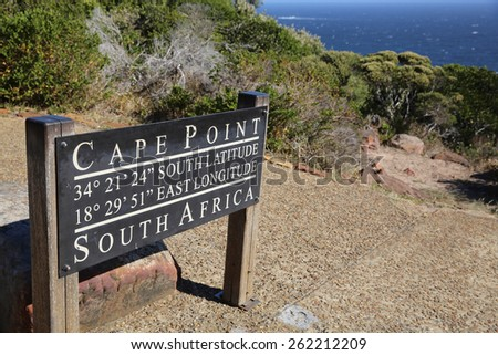 Sign at Cape Point. South Africa - stock photo