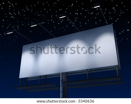 sign at night - stock photo