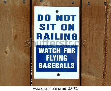 sign at the baseball stadium - stock photo