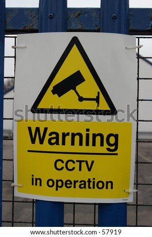 Sign, CCTV Warning - stock photo