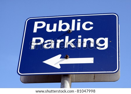 Sign displaying Public Parking in Canada