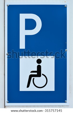 sign for a Handicapped Parking