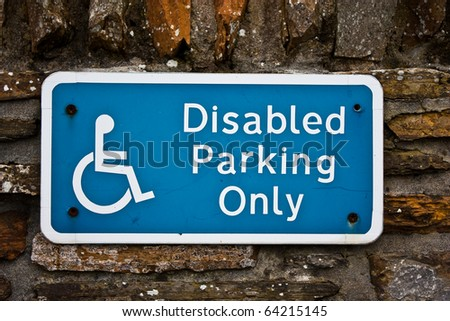 Sign for disable parking, useful for concepts - stock photo