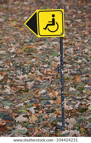 Sign for disabled parking - stock photo
