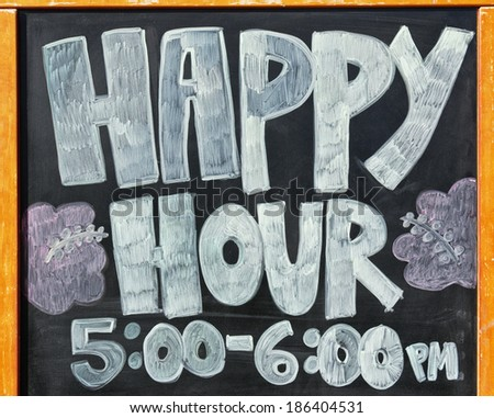 sign for happy hour - stock photo