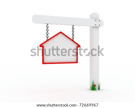 Sign for house on sale - stock photo